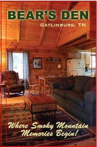 Bear's Den Gatinburg Vacation Rental Cabin