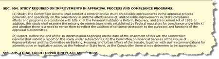 HR 1728 Appraisal Provisions