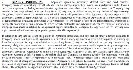 TSI Appraiser Agreement