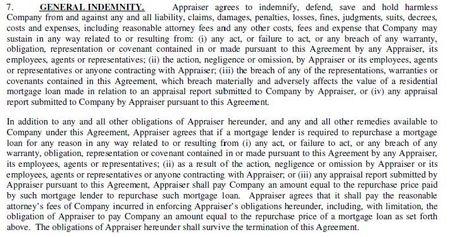 TSI Appraiser Agreement
