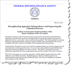 Strengthening Appraiser Independence and Improving the Valuation Process