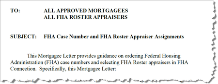 Mortgagee Letter 2010-15