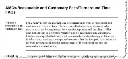 FHA Reasonable and Customary Fees