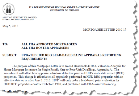Mortgagee Letter 2010-17