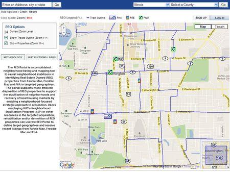 HUD GIS Foreclosure Map