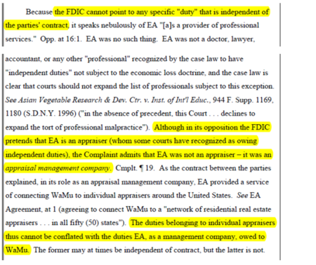FDIC-Reiterates-Threat-that-Appraisers-Are-the-Legal-Agents-of-AMCs-in-a-Late-Filed-Brief