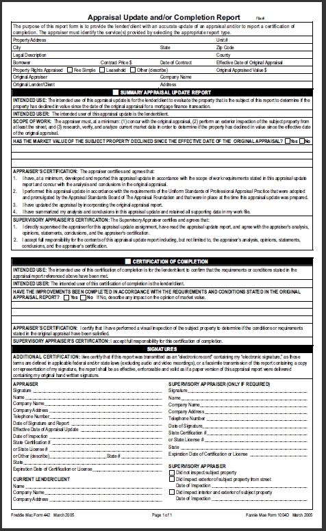 va home loan inspection form