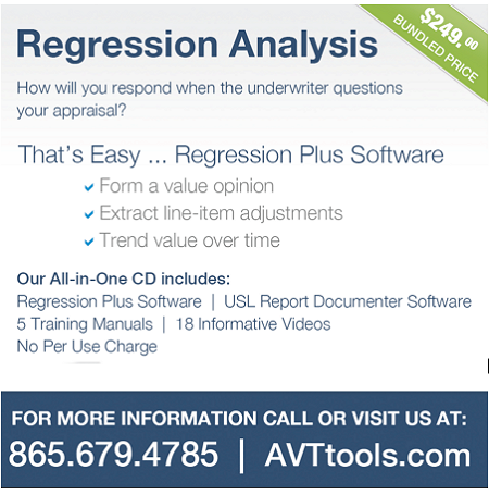 AVTtools Regression Analysis Appraisal Scoop