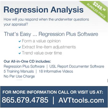 AVTtools Regression Analysis Appraisal Scoop