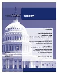 NCRC Testimony