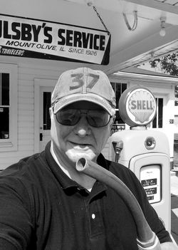 Brian at Soulsby's Mt Olive B&W
