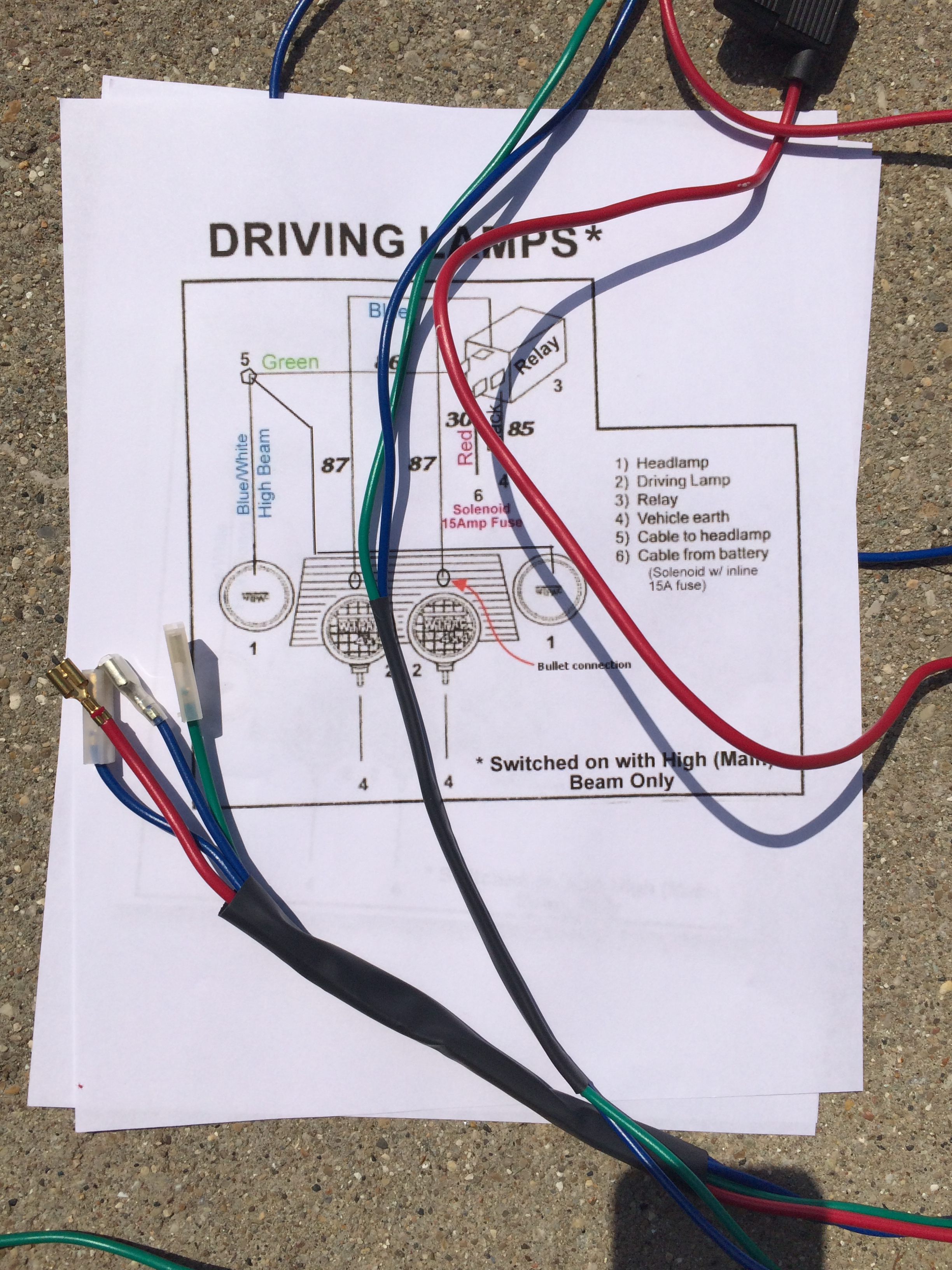 Classic Mini Wiring Loom Kit - Circuit Connection Diagram •