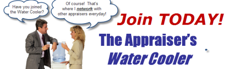 Don't miss out on the latest news!  Network and join the conversation on the Appraiser's Water Cooler!