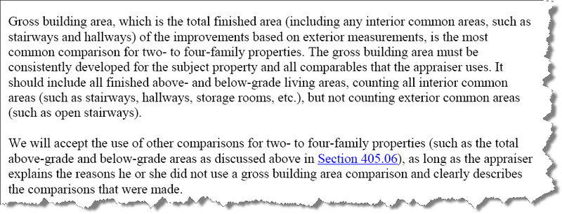 appraisal scoop calculating the gross square footage of living area